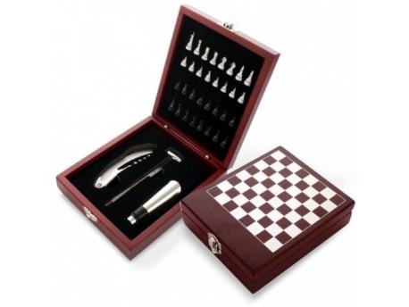 Estuche accesorios vino y ajedrez