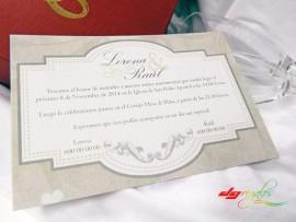 Invitación de Bodas Modelo Elegance