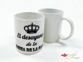 Taza personalizada El desayuno de la Reina