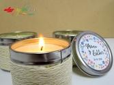 Pack de 12 velas personalizadas aromáticas MALAC