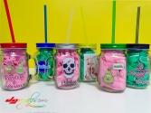 Jarra de cristal personalizada para smoothies y batidos