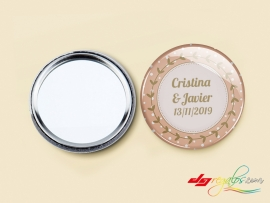 Espejos de bolso personalizados modelo 'Chapa'
