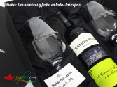 Pack enólogo con botella de vino