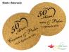 Posavasos personalizados de corcho ecológico