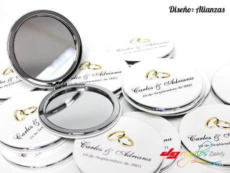 Espejo de bolso personalizado